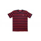 Stitched Monogram Tee Navy/Red Stripes M